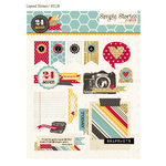 Simple Stories - 24 Seven Collection - Layered Stickers