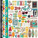 Simple Stories - I Heart Summer Collection - 12 x 12 Cardstock Stickers - Fundamentals
