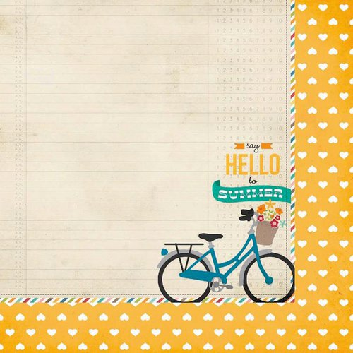 Simple Stories - I Heart Summer Collection - 12 x 12 Double Sided Paper - Hello Summer