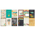 Simple Stories - I Heart Summer Collection - 12 x 12 Double Sided Paper - 4 x 6 Vertical Journaling Card Elements
