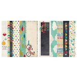 Simple Stories - I Heart Summer Collection - 12 x 12 Double Sided Paper - Border and Title Elements