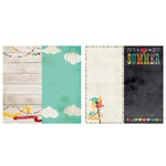 Simple Stories - I Heart Summer Collection - 12 x 12 Double Sided Paper - Page Elements