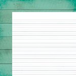 Simple Stories - I Heart Summer Collection - 12 x 12 Double Sided Paper - Teal Boardwalk