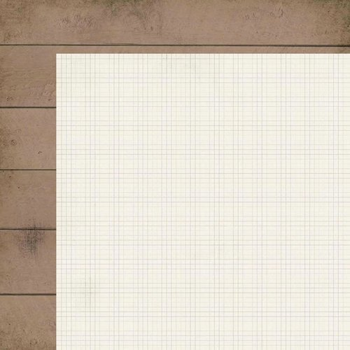 Simple Stories - I Heart Summer Collection - 12 x 12 Double Sided Paper - Brown Boardwalk