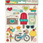 Simple Stories - I Heart Summer Collection - Layered Stickers