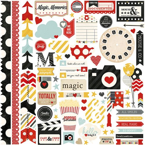 Simple Stories - Say Cheese Collection - 12 x 12 Cardstock Stickers - Fundamentals