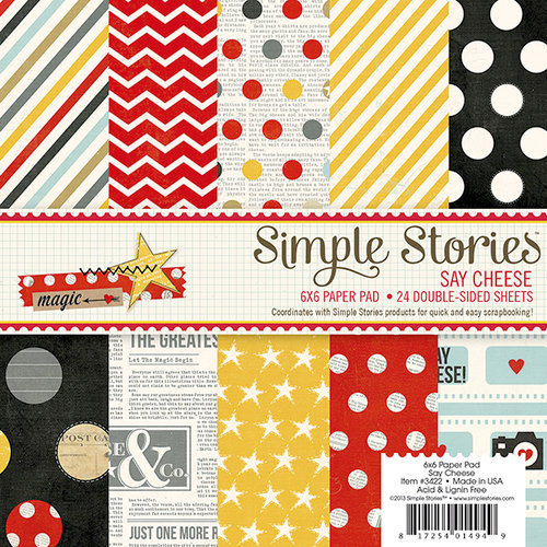 Simple Stories - Say Cheese Collection - 6 x 6 Paper Pad