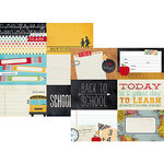 Simple Stories - Smarty Pants Collection - 12 x 12 Double Sided Paper - 4 x 6 Horizontal Journaling Card Elements