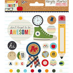 Simple Stories - Smarty Pants Collection - Decorative Metal Brads