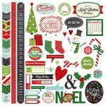 Simple Stories - December Documented Collection - Christmas - 12 x 12 Cardstock Stickers - Fundamentals