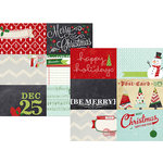 Simple Stories - December Documented Collection - Christmas - 12 x 12 Double Sided Paper - 4 x 6 Horizontal Journaling Card Elements