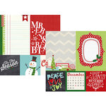 Simple Stories - December Documented Collection - Christmas - 12 x 12 Double Sided Paper - Quote and Photo Mat Elements