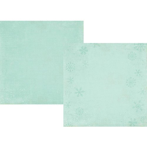 Simple Stories - December Documented Collection - Christmas - 12 x 12 Double Sided Paper - Blue Snowflake