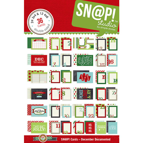Simple Stories - SNAP Collection - Christmas - 4 x 6 Cards - December Documented
