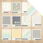 Simple Stories - Hello Baby Collection - 12 x 12 Double Sided Paper - Tiny Details
