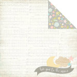 Simple Stories - Hello Baby Collection - 12 x 12 Double Sided Paper - Twinkle Twinkle