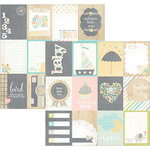 Simple Stories - Hello Baby Collection - 12 x 12 Double Sided Paper - 3 x 4 Journaling Card Elements