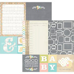 Simple Stories - Hello Baby Collection - 12 x 12 Double Sided Paper - Quote and Photo Mat Elements