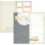 Simple Stories - Hello Baby Collection - 12 x 12 Double Sided Paper - Page Elements