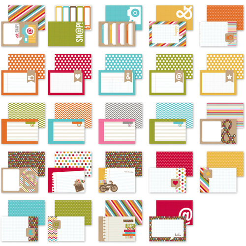 Simple Stories - SNAP Studio Collection - 4 x 6 Cards - Snappy Thoughts