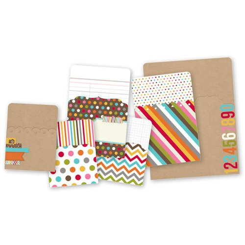 Simple Stories - SNAP Studio Collection - Memorabilia Pockets - Color Fusion