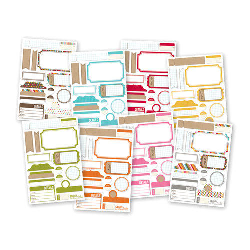 Simple Stories - SNAP Studio Collection - Cardstock Stickers - Labels