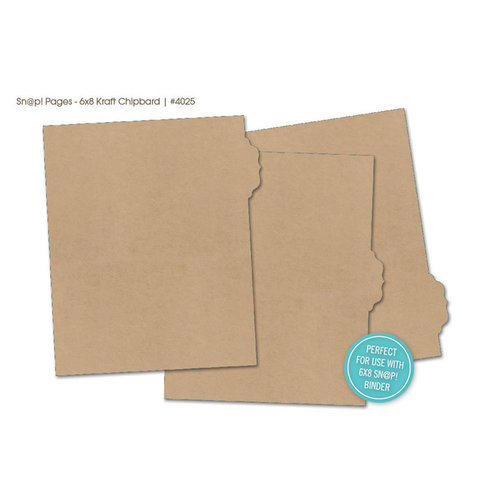 Simple Stories - SNAP Studio Collection - Chipboard Album Dividers - Kraft