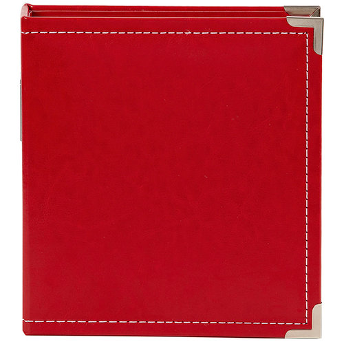 Simple Stories - SNAP Studio Collection - 6 x 8 Faux Leather Album - Red