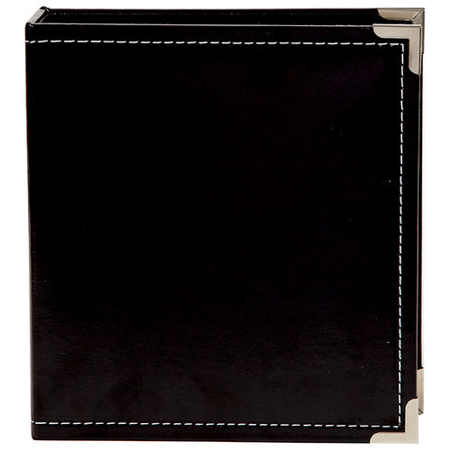 Simple Stories - SNAP Studio Collection - 6 x 8 Faux Leather Album - Black