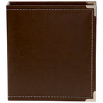 Simple Stories - SNAP Studio Collection - 6 x 8 Faux Leather Album - Brown
