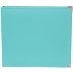 Simple Stories - SNAP Studio Collection - 12 x 12 Faux Leather Album - Teal