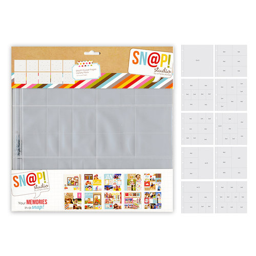 Simple Stories - SNAP Studio Collection - 12 x 12 Multi Pack Divided Page Protectors - 10 Pack