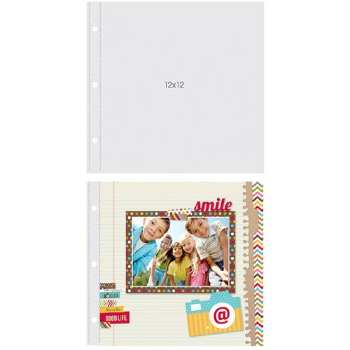 Simple Stories - SNAP Studio Collection - Page Protectors - 12 x 12 Three Ring - 10 Pack