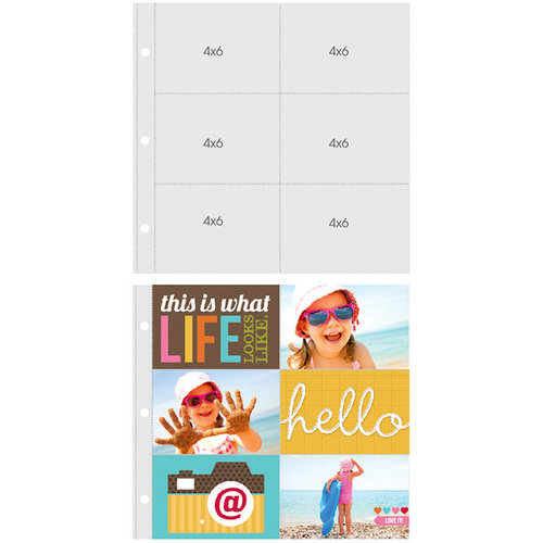 Simple Stories - SNAP Studio Collection - Page Protectors - 6 Up - 4 x 6 Inch Photo Sleeves - Fits 12 x 12 Three Ring Albums - 10 Pack