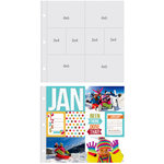 Simple Stories - SNAP Studio Collection - Page Protectors - Four 4 x 6 Four 3 x 4 Inch Photo Sleeves - Fits 12 x 12 Three Ring Albums - 10 Pack