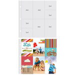 Simple Stories - SNAP Studio Collection - 12 x 12 Page Protectors - Four 6 x 4 Four 3 x 4 Inch Photo Sleeves - 10 Pack