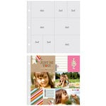 Simple Stories - SNAP Studio Collection - Page Protectors - Four 4 x 6 Horizontal Four 3 x 4 Inch Photo Sleeves - Fits 12 x 12 Three Ring Albums - 10 Pack