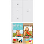 Simple Stories - SNAP Studio Collection - Page Protectors - Three 4 x 6 One 6 x 12 Inch Photo Sleeves - Fits 12 x 12 Three Ring Albums - 10 Pack