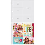 Simple Stories - SNAP Studio Collection - 12 x 12 Page Protectors - Four 4 x 6 One 6 x 8 Inch Photo Sleeves - 10 Pack