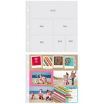 Simple Stories - SNAP Studio Collection - Page Protectors - One 4 x 12 Three 4 x 6 Two 3 x 4 Inch Photo Sleeves - Fits 12 x 12 Three Ring Albums - 10 Pack