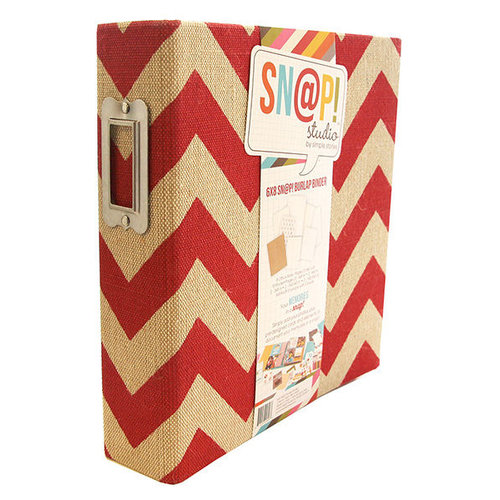 Simple Stories - SNAP Studio Collection - Burlap Binder - Red