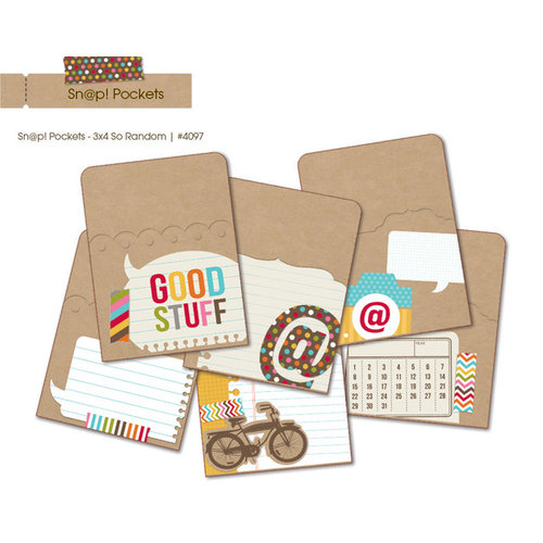 Simple Stories - SNAP Studio Collection - 3 x 4 Memorabilia Pockets - So Random