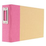 Simple Stories - SNAP Studio Collection - 4 x 6 Horizontal Binder - Pink