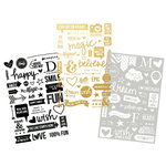 Simple Stories - Say Cheese II Collection - Clear Photo Stickers with Foil Accents