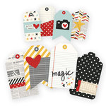 Simple Stories - Say Cheese II Collection - Layered and Stitched Tags
