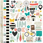 Simple Stories - I AM Collection - 12 x 12 Cardstock Stickers - Fundamentals, COMING SOON