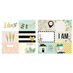 Simple Stories - I AM Collection - 12 x 12 Double Sided Paper - 4 x 6 Horizontal Journaling Card Elements, COMING SOON