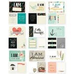 Simple Stories - I AM Collection - 3 x 4 and 4 x 6 Cards with Foil Accents