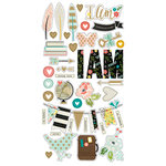 Simple Stories - I AM Collection - Chipboard Stickers with Foil Accents, COMING SOON