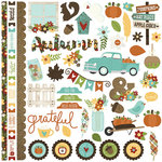 Simple Stories - Pumpkin Spice Collection - 12 x 12 Cardstock Stickers - Fundamentals